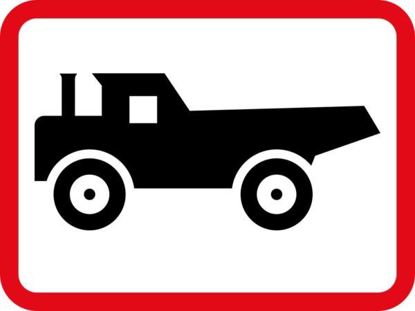R570: Construction Vehicle Sign