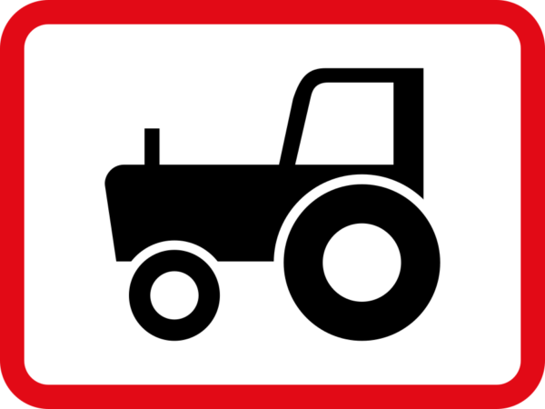 R580: Agricultural Vehicle Sign