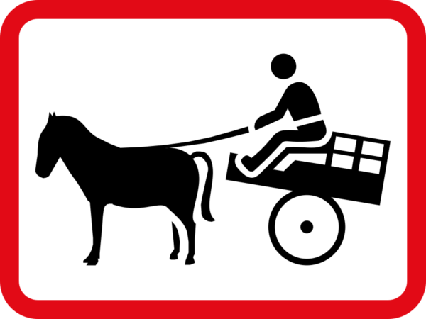 R581: Animal-Vehicle Drawn Sign