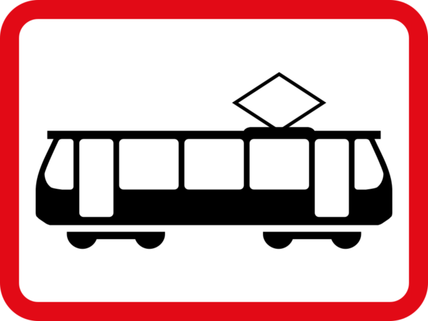 R583: Tram Vehicle Sign