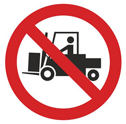 PV10: Tractors & Forklifts Prohibited Beyond This Point