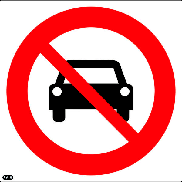PV16: No Entry For Vehicles