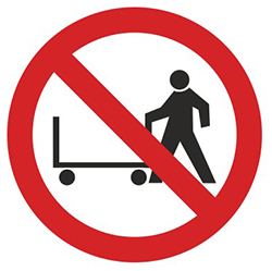 PV09: Hand Trolleys Prohibited