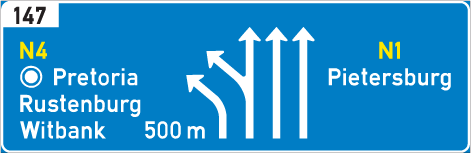 GC3U: Overhead Supplementary Exit/Through Direction
