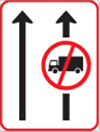 GS302: Lane Use Control By Regulatory Sign
