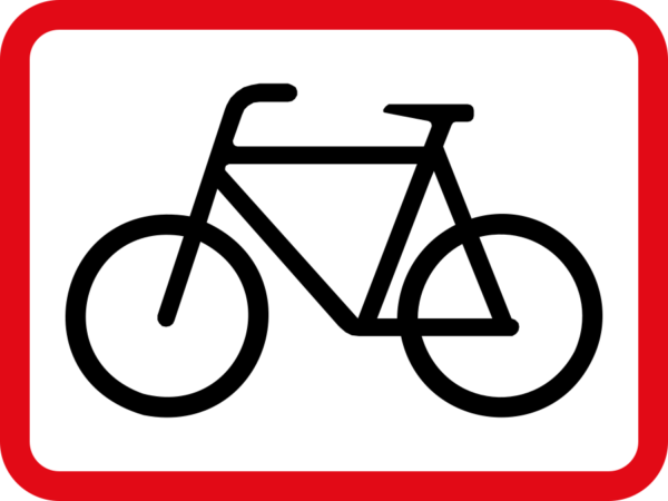 R561: Pedal Cycles Sign