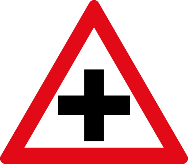W101: Cross Road Sign