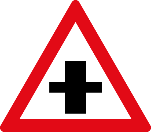 W102: Priority Crossroad Sign