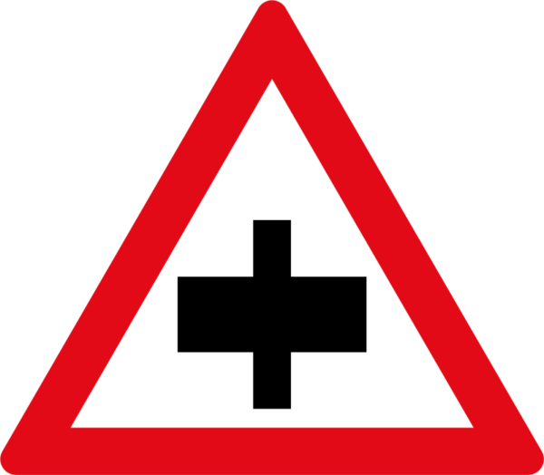 W103: Secondary Crossroad Sign