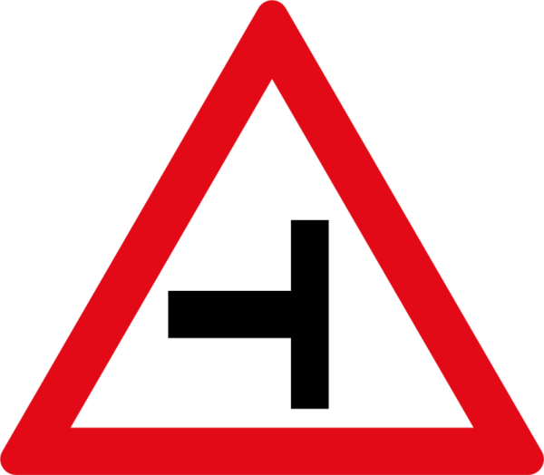 W107: Side Road Junction Left