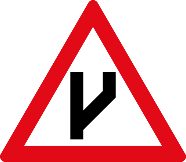 W118: Beginning Of Dual Roadway to Right
