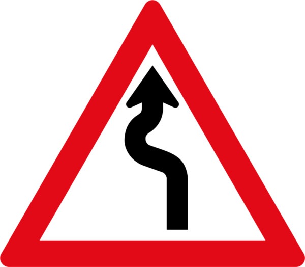 W209: Winding Road Sign Left Right