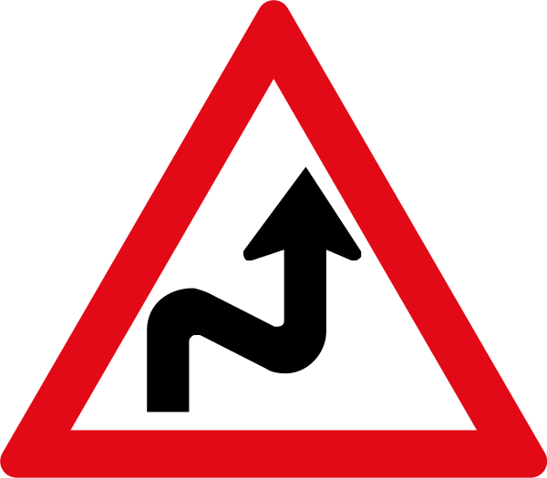W210: Combined Curves Sign Right Left