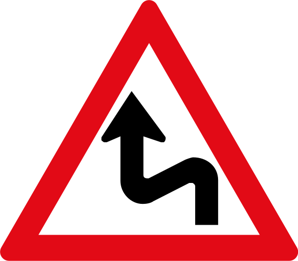 W211: Combined Curves Sign Left Right