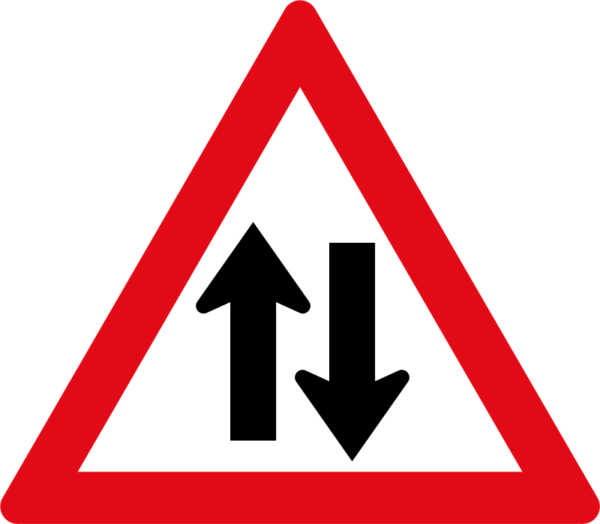 W212: Two-Way Traffic Sign