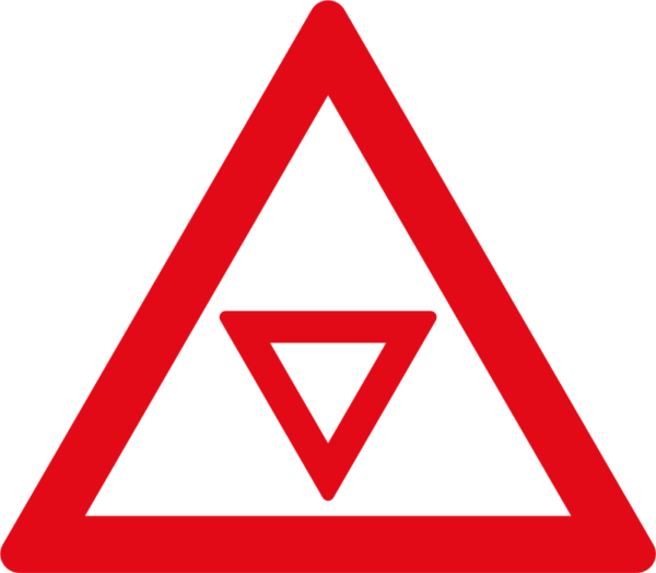 "W303: Traffic Control ""YIELD"" Ahead Sign"