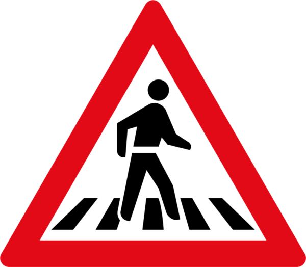 W306: Pedestrian Crossing Sign