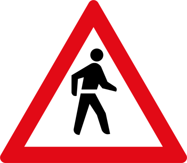 W307: Pedestrians Sign