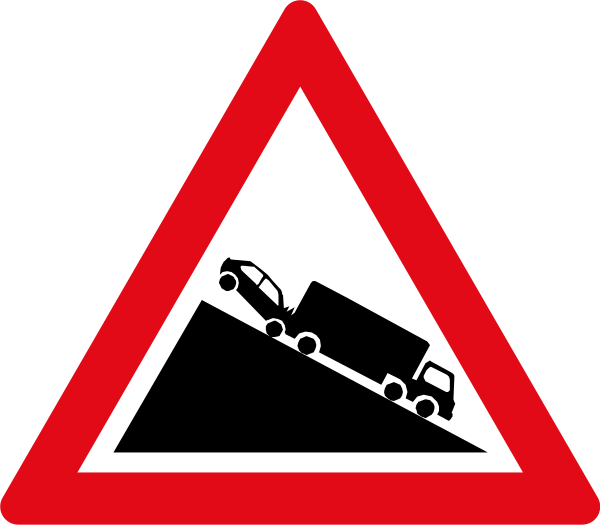 W324: Slow Moving Heavy Vehicles Sign