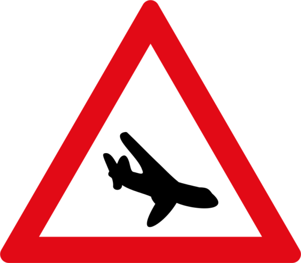 W351: Low Flying Aircraft Sign