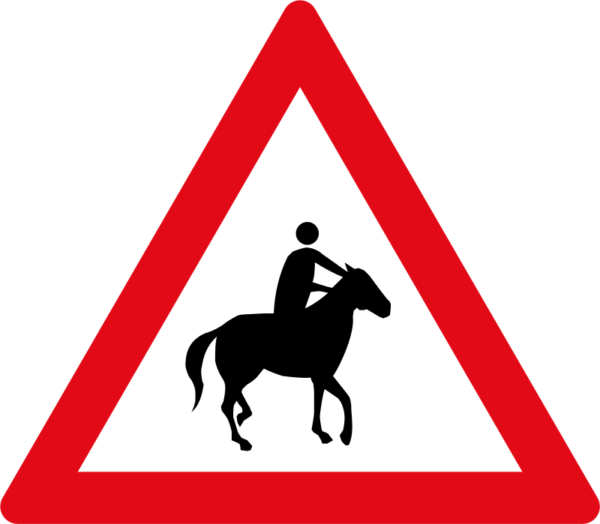 W356: Horses & Riders Sign