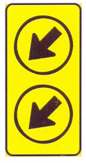 TR103-RD: Keep Left (On A High Visibility Background