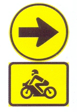 TR106-562: Proceed Right Only, Motorcycles