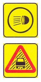 TR133-RC+TW354-WC: Switch Head Lamps On (On A High Visibility Background) Reduced Visibility (On A High Visibility Background)