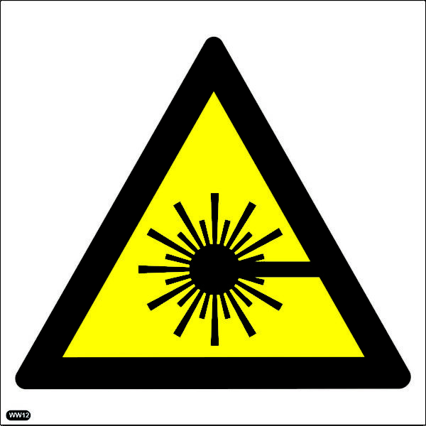 WW12: Warning Of Laser Hazard