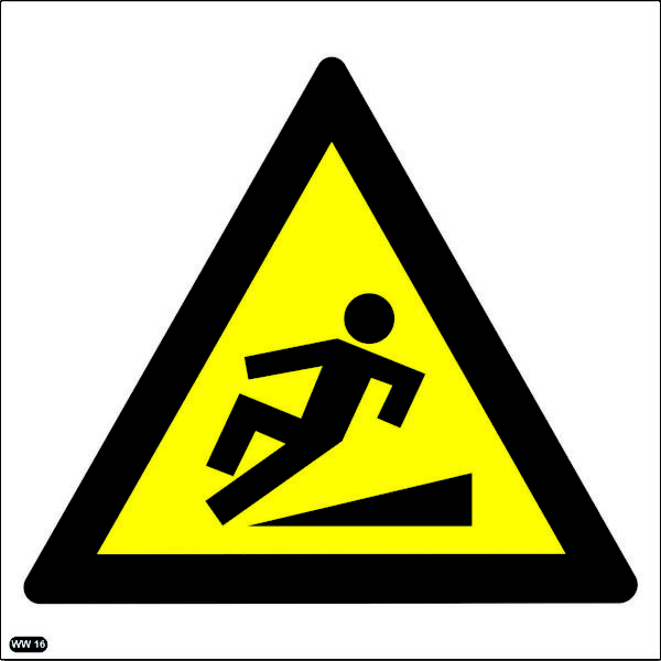 WW16: Warning Of Slippery Walking Surface