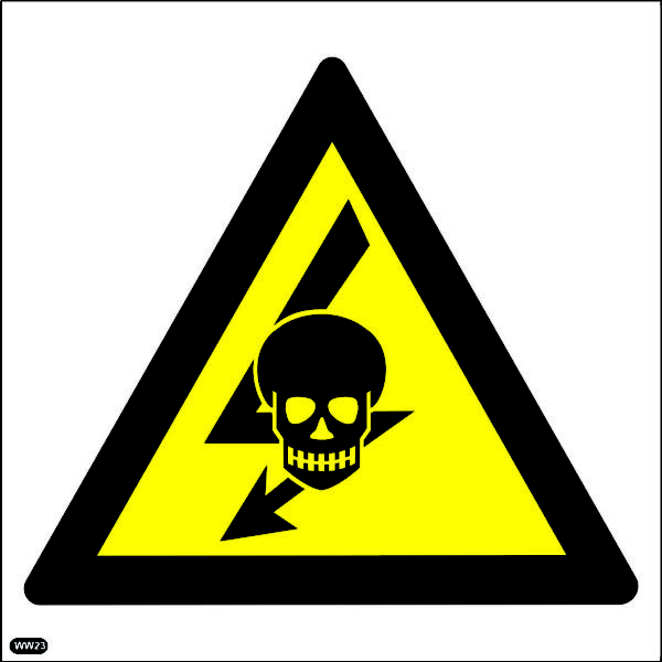 WW23: Beware Of Hazard Of Exposed Live High-Voltage Equipment