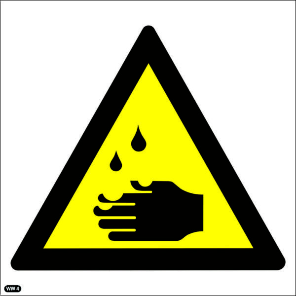 WW4: Warning Of Corrosive Hazard
