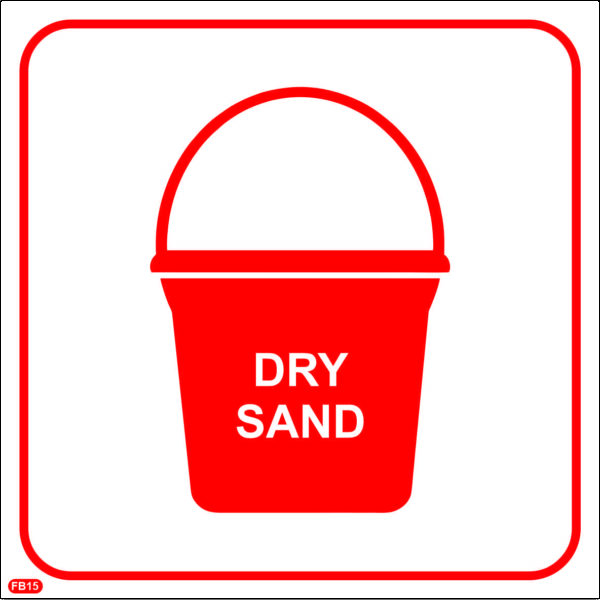 FB15: Bucket with Fire Fighting Sand