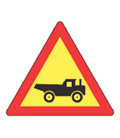 W344: Trucks Crossing from Left (Temporary)