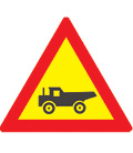 W345: Trucks Crossing from Right (Temporary)