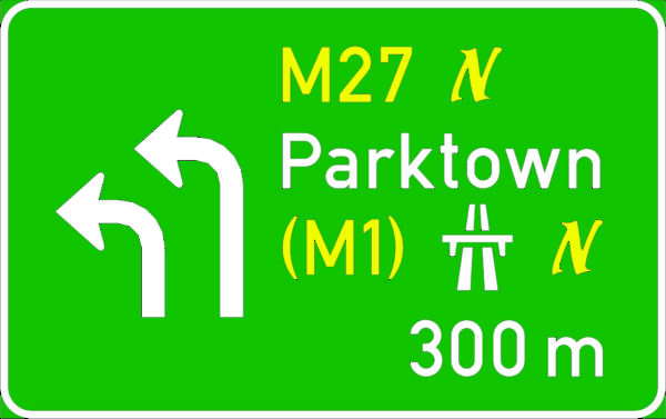 GD14: Overhead-Upward Arrows Advance Exit (Low Speed)
