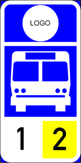 R325: Bus Stop Reservation Sign