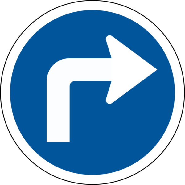 R109: Turn Right Sign