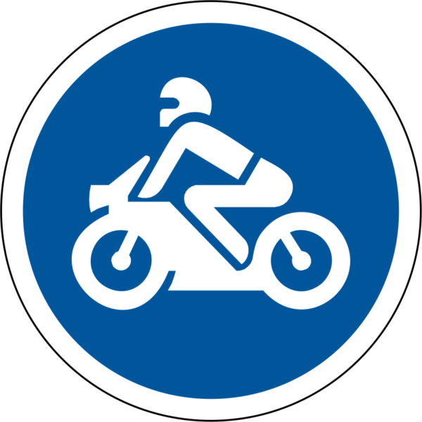 R116: Motor Cycles Only Sign