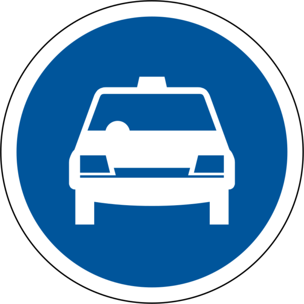R118: Taxis Only Sign
