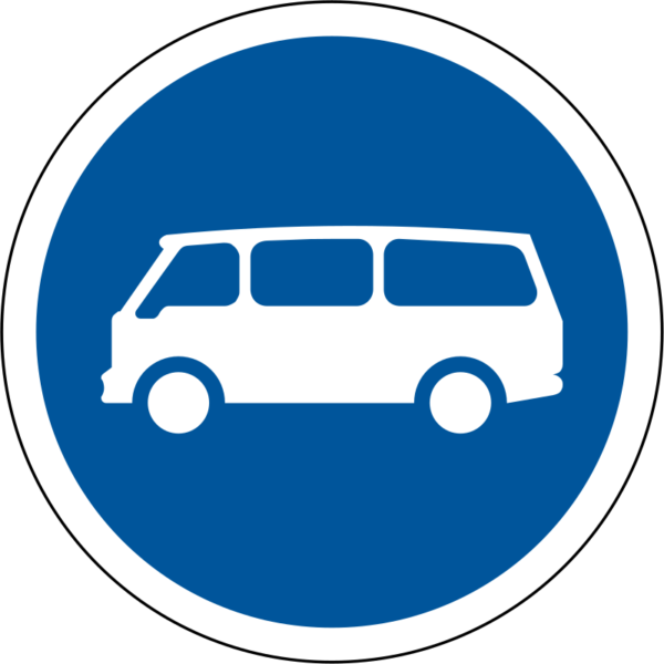 R119: Minibuses Only Sign