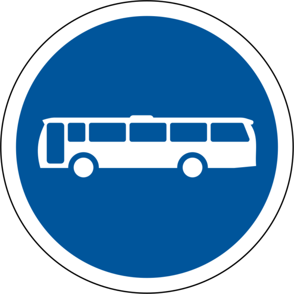 R121: Buses Only Sign