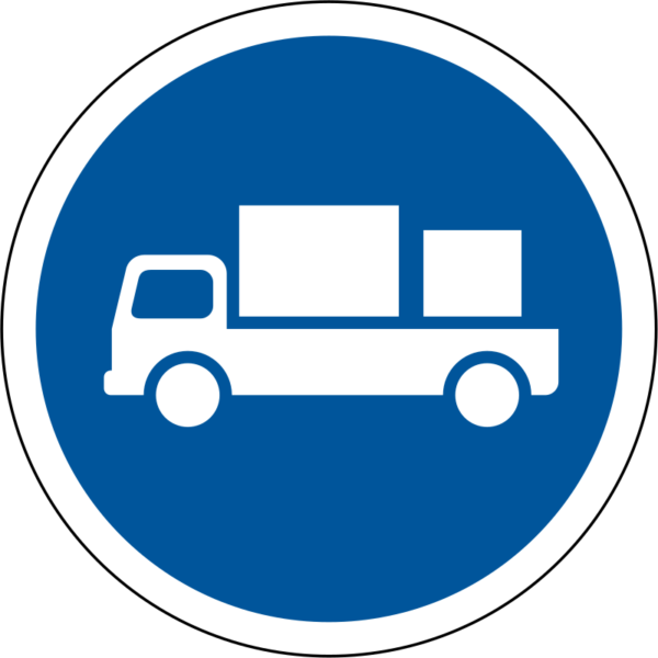 R122: Delivery Vehicles Only Sign
