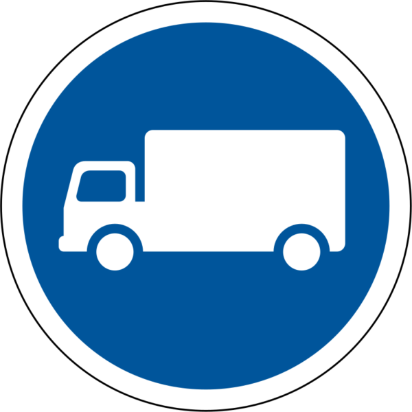 R123: Goods Vehicle Only Sign