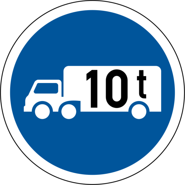 R124: Goods Vehicle Over Indicated GVM Only Sign