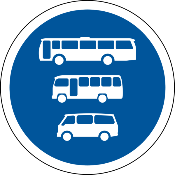 R136: Buses, Minibuses & Minibuses Only Sign
