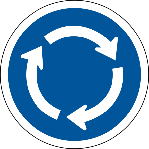 R137: Roundabout Sign