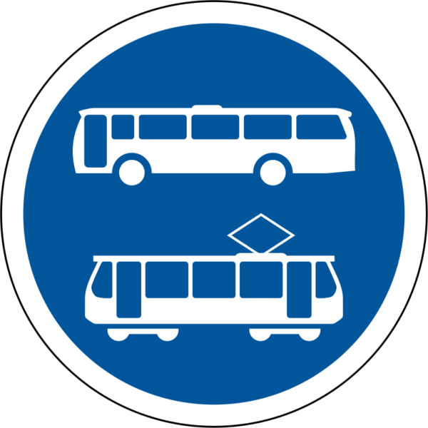 R139: Buses & Trams Only Sign