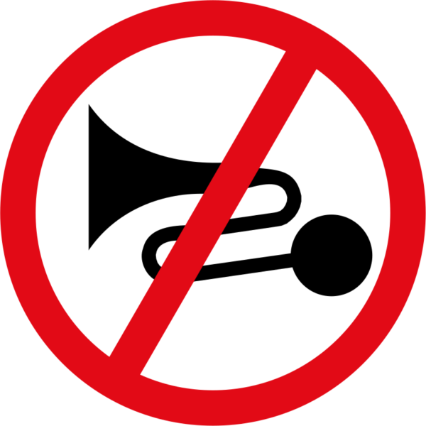 R206: Excessive Noise Prohibited Sign