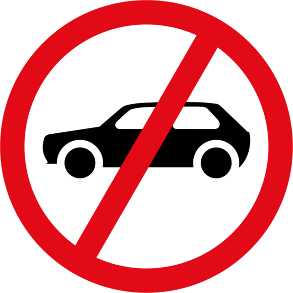 R223: Vehicles Prohibited Sign